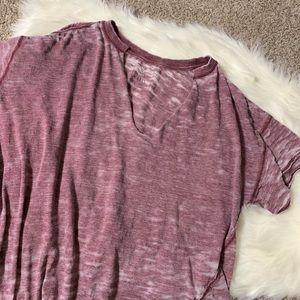Free People purple burnout tee size medium
